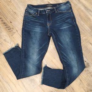Lucky Brand Lolita Raw Hem Skinny Jeans Size 6
